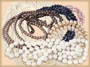 Ожерелья и браслеты из жемчуга