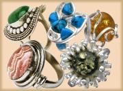 Кольца с поделочными камнями