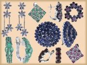 Серьги с драгоценными камнями