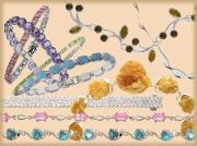 Колье и браслеты со вставками