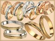 Обручальные кольца фантазийные